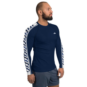 Wear it Strong Infinity 888 White & Navy Blue Men's Rash Guard