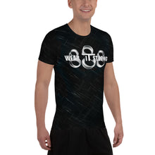 Load image into Gallery viewer, Wear it Strong 888 Chrome and Black Men's Athletic T-shirt