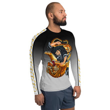 Load image into Gallery viewer, Wear it Strong Samurai Fighting Tiger 888 Mens Rash Guard Shirt