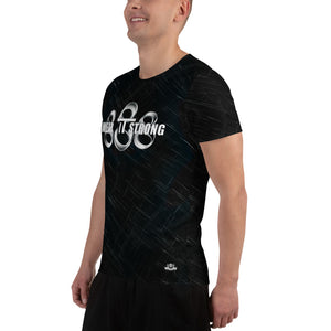 Wear it Strong 888 Chrome and Black Men's Athletic T-shirt