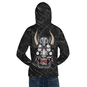 Wear it Strong Fearsome Oni Mask Black Hoodie