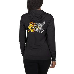 Loyalty Dragon and Phoenix Infinity 888 Zip Hoodie