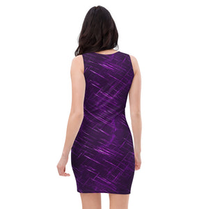 Ladies Purple Wisdom Dragon Fitted Dress
