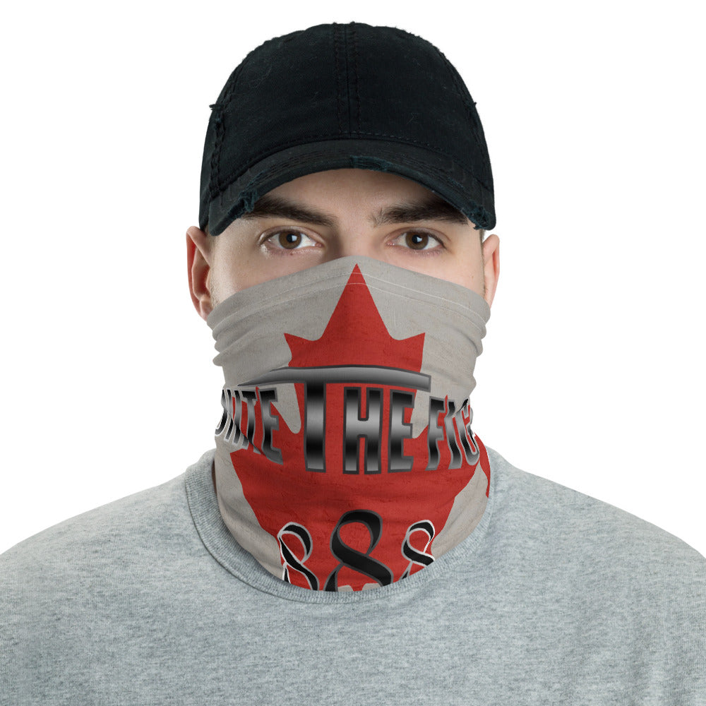 Unite The Fight 888 Positivity Canadian Flag Neck Gaiter