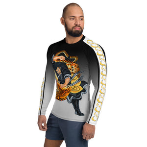 Wear it Strong Samurai Fighting Tiger 888 Mens Rash Guard Shirt