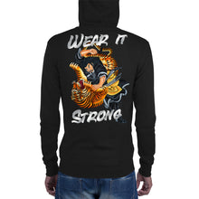 Load image into Gallery viewer, Kigurai Samurai Fighting Tiger Wear it Strong Chrome Zip Hoodie