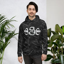Load image into Gallery viewer, Wear it Strong Fearsome Oni Mask Black Hoodie