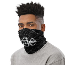 Load image into Gallery viewer, Wear it Strong 888 Chrome and Black Bandanna Neck Gaiter