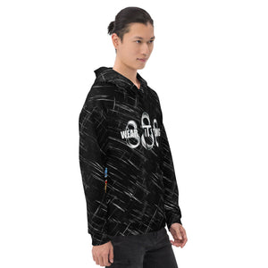 Wear it Strong 888 Dragon and Koi Black Hoodie