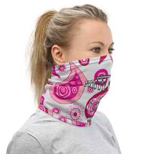 Unite The Fight 888 Positivity Pink Paisley Neck Gaiter