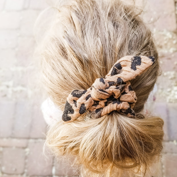 Girls animal print hair scrunchy