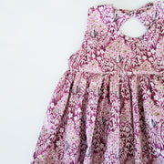 Berry Woodland Girls Summer Dress With Pockets
