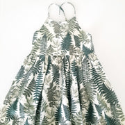 Fern Leaf Girls Summer Dress