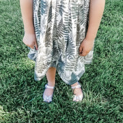 Fern Leaf Girls Boho Summer Dress