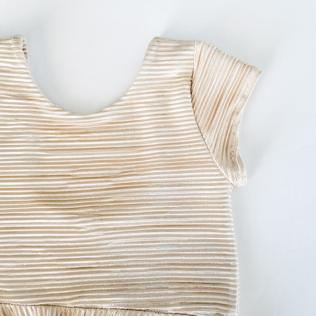 Pleated Gold Girls Dress