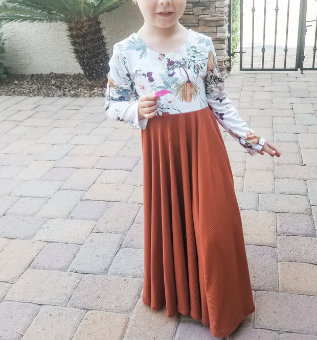 Girls Maxi Dress For Fall Family Photos