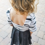 Modern Halloween Twirl Dress For Toddlers