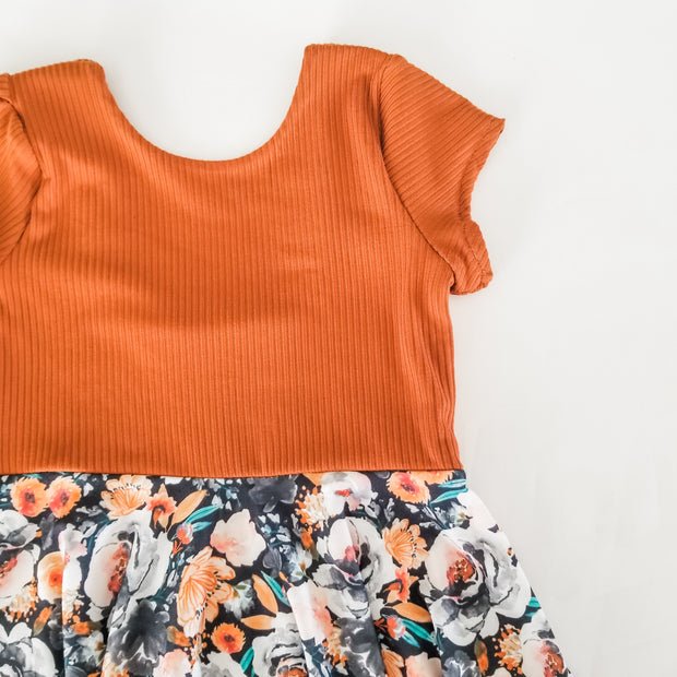 Burnt Orange Halloween Twirl Dress