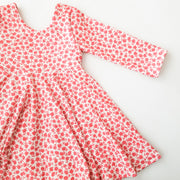 Red Daisy Twirl Dress