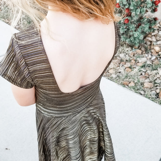 Modern Square Back Twirl Dress