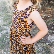 Girls Animal Print Twirl Dress