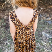 Modern Animal Print Dress For Summer