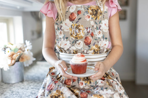 Embroidered boho apron for girls