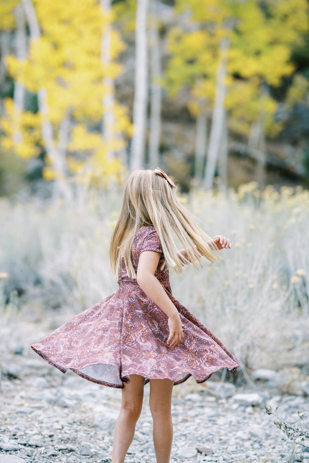 Fall Twirl Dress For Family Photos