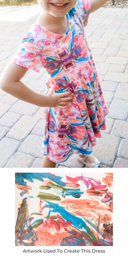 Rem and Em Kids Art Work Twirl Dress