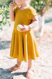 Mustard Girls Dress For Family Photos