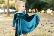 Velvet Twirl Dress For Family Photos