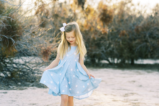 Sunshine little girls modern twirl dress