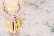 Sunburst twirl dress for girls