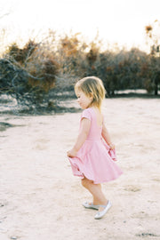 Square back modern toddler twirl dress