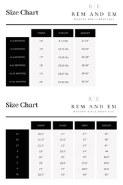 Size Charts For The Art Work Dress