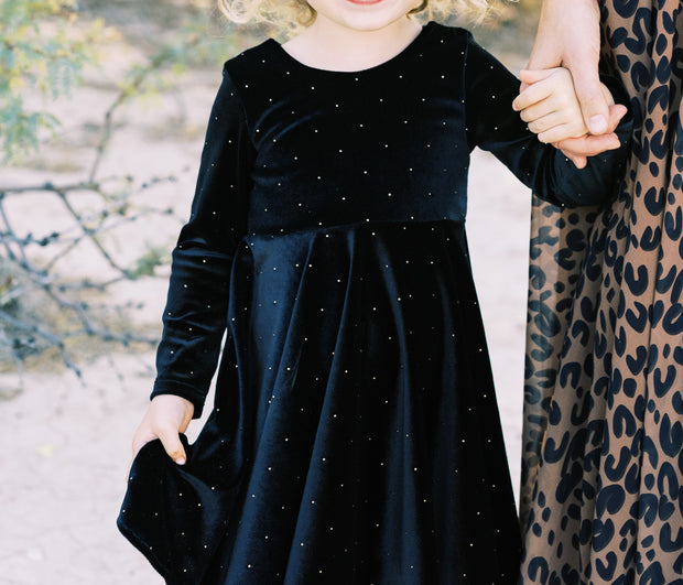 Velvet Modern Girls Twirl Dress