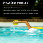 AGILITY PADDLES FLOATING | STRAPLESS TECHNIQUE PADDLES