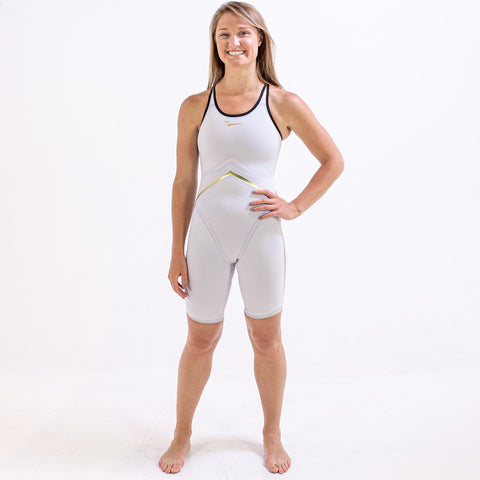 WHITE RIVAL CLOSED BACK KNEESKIN | ELITE TECHNICAL RACING SUIT