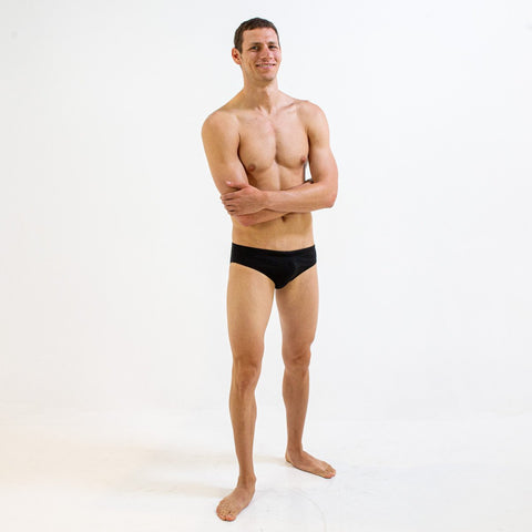 YOUTH BLACK BRIEF | DURABLE TRAINING AND COMPETITION SWIMWEAR