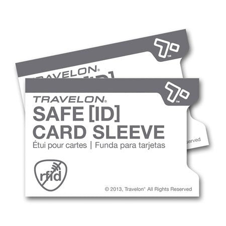 Safe ID Set of 2 RFID Blocking Card Sleeves