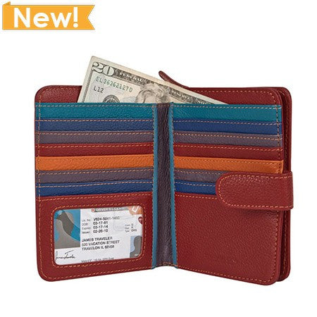 Safe ID Color Block Wallet