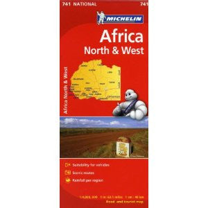 Africa North & West Map 741