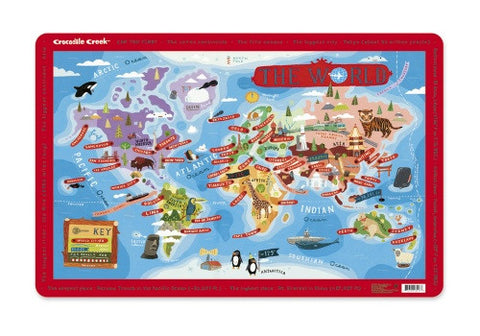 Kids Placemat - World Cities Map