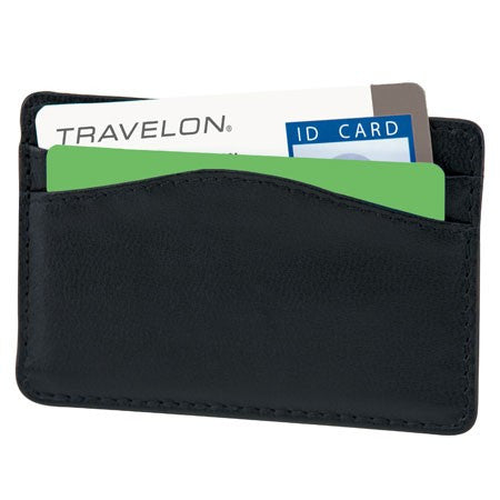 Safe ID Leather Card Sleeve
