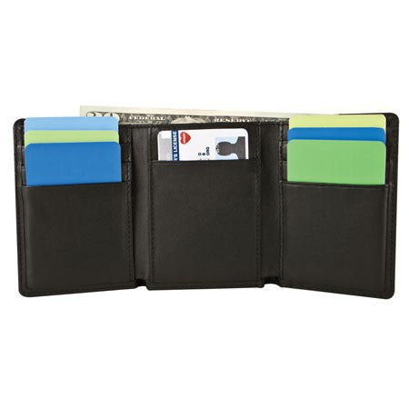 Safe ID Leather Trifold Wallet