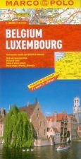 Belgium Luxembourg Marco Polo Map