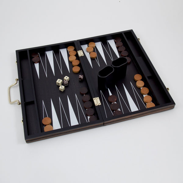 "Backgammon Set 15"" Wood Inlay"