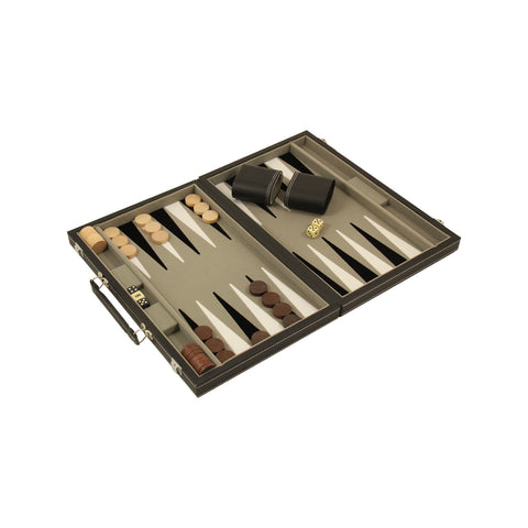 "Backgammon Set 15"" Leather"