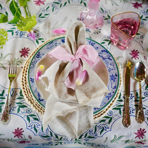 Spring Tablescape, Dress For Dinner