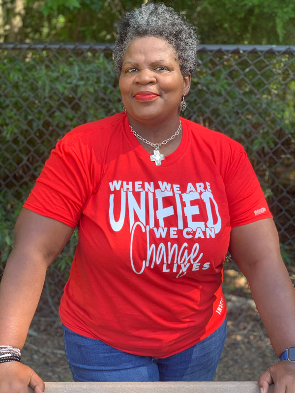 When We Are Unified We Can Change Lives Unisex T-shirt - Motivat3Me